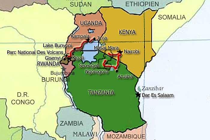 Ostafrika 2006 Oversigt